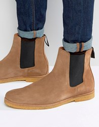 Religion Suede Chelsea Boots Beige