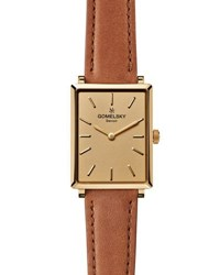 Gomelsky By Shinola Shirley 32Mm Leather Strap Watch Bourbon Golden