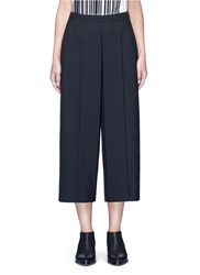 Alexander Wang Pleated Front Cropped Wool Blend Pants Black