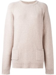 Chinti And Parker Garter Stitch Sweater Nude And Neutrals