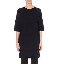 Whistles Gelsey Knitted Tunic Top Navy