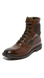 To Boot Tobias Shearling Lined Boots Dark Brown