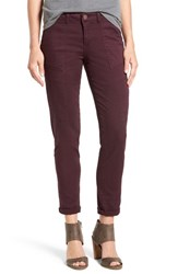 Wit And Wisdom Women's Skinny Cargo Pants Dark Byzantium