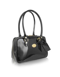 L.A.P.A. Black Italian Patent Leather Shoulder Bag