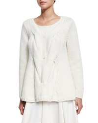 Co Cable Knit A Line Sweater Ivory