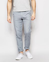 United Colors Of Benetton Slim Fit Chino In Linen Blue