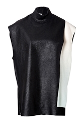 3.1 Phillip Lim Wool Double Layer Tunic Top