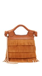 Foley Corinna Sasha Tiny City Cross Body Bag Honey Brown