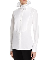 Ralph Lauren Ruffle Collar Shirt 100 Bloomingdale's Exclusive White