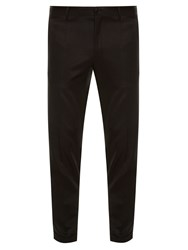 Dolce And Gabbana Grosgrain Striped Tuxedo Trousers Black