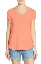 Women's Wit And Wisdom Shoulder Cutout V Neck Tee Nordstrom Exclusive
