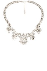 Wanderlust Co Medallion Floral Necklace Metallic Silver