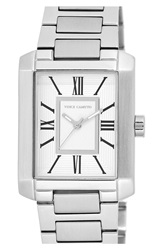 Vince Camuto Rectangle Bracelet Watch 40Mm Silver White