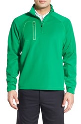 Bobby Jones Men's 'Crawford Xh20' Stretch Quarter Zip Golf Pullover Kelly