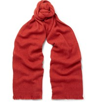 Loro Piana Baby Cashmere Blend Scarf Red