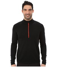 Spyder Drayke Half Zip Sweater Black Volcano Men's Sweater