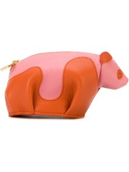 Loewe Panda Bear Shaped Coin Purse Yellow And Orange