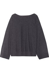 The Row Minola Cashmere Sweater Dark Gray