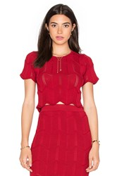 Lucy Paris Seashell Scallop Top Red