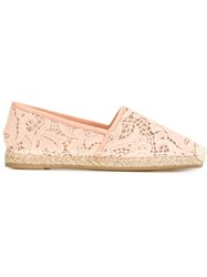 Ermanno Scervino Crochet Espadrilles Pink And Purple