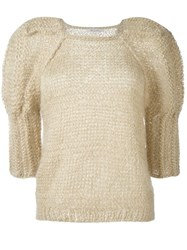 Mes Demoiselles 'Luciole' Handmade Jumper Nude And Neutrals
