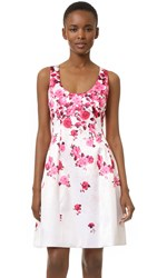Prabal Gurung Molded Seam Dress Garnet Fuschia Floral