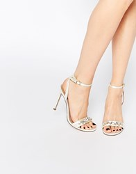 Asos High In The Sky Heeled Sandals White