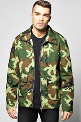 Boohoo Pocket Zip Through Lined Jacket Camo