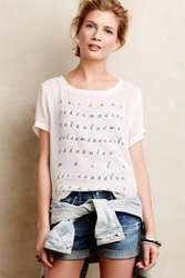 Dolan Left Coast Letter Perfect Mesh Tee Black And White