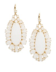 Kate Spade Seastone Sparkle Statement Earrings White