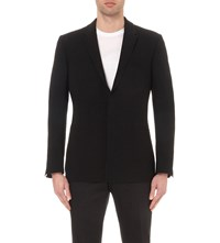 Kilgour Single Breasted Stretch Wool Blazer Dk Navy