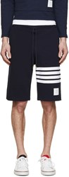 Thom Browne Navy Striped Shorts