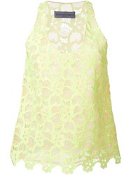 Emanuel Ungaro Sleeveless Lace Top Yellow And Orange