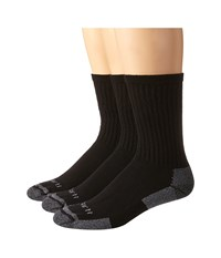 Carhartt Cotton Crew Work Socks 3 Pack Black Men's Crew Cut Socks Shoes