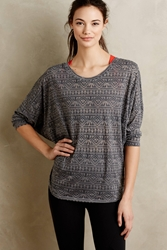 Pure Good Treva Burnout Pullover Grey Motif