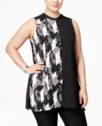 Alfani Plus Size Colorblocked Blouse Only At Macy's Faded Angle