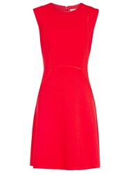 Reiss Honor Fit And Flare Dress Cherry Red