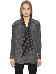Kate Moss For Equipment Daddy Silk Shirt W Dot Tie