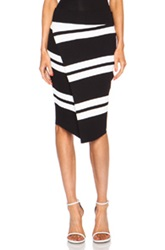 A.L.C. Clift Rayon Blend Skirt In Black Stripes