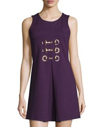 Julie Brown Felicia Sleeveless A Line Dress Purple