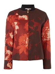 La Fee Maraboutee Printed Zip Jacket Orange