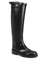 Ann Demeulemeester Knee High Leather Riding Boots Black