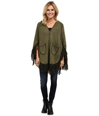 Scully Euphrates So Soft Poncho Olive Women's Coat