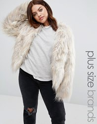 Alice And You Faux Fur Yeti Coat Grey