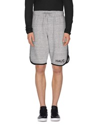 Haus Golden Goose Trousers Bermuda Shorts Men Grey