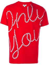 Kenzo Only You Daisy Print T Shirt Red