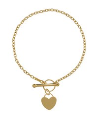 Lord And Taylor 14K Yellow Gold Heart Toggle Bracelet