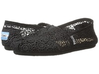 Toms Crochet Classics Black Morocco Crochet Women's Slip On Shoes