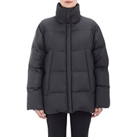 Quilted Tech Coat Black