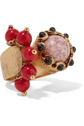 Etro Gold Plated Embellished Ring
